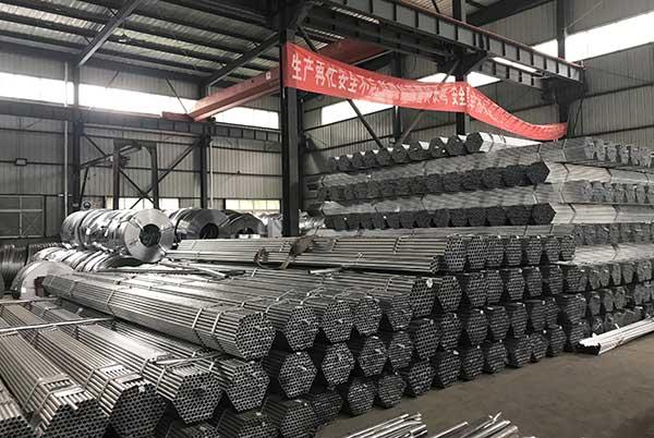 新万博manbetx官网登录镀锌管生产厂区展示